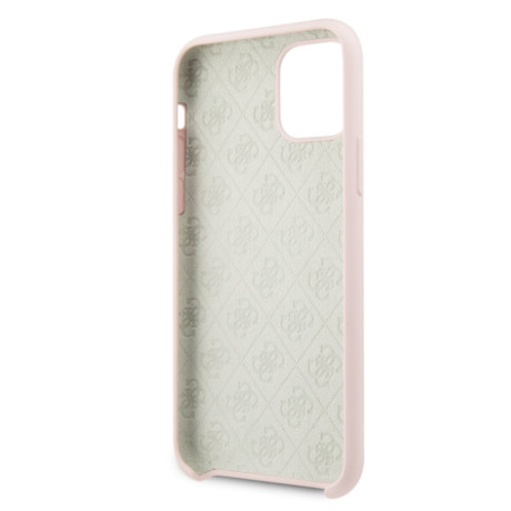 Husa Guess 4G Silicone Tone on Tone iPhone 11 Pro Max, Roz