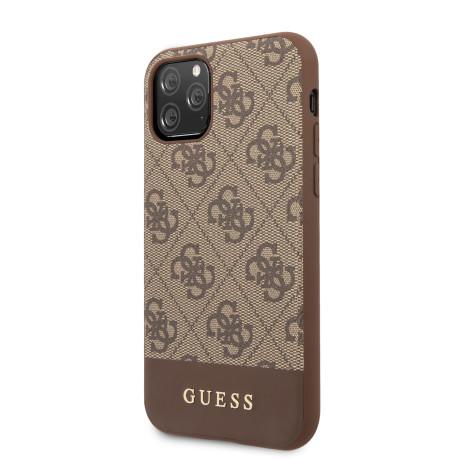 Husa Guess 4G Stripe pentru iPhone 11 Pro, Maro
