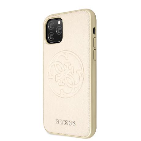 Husa Guess 4G Stripe pentru iPhone 11 Pro Max, Auriu