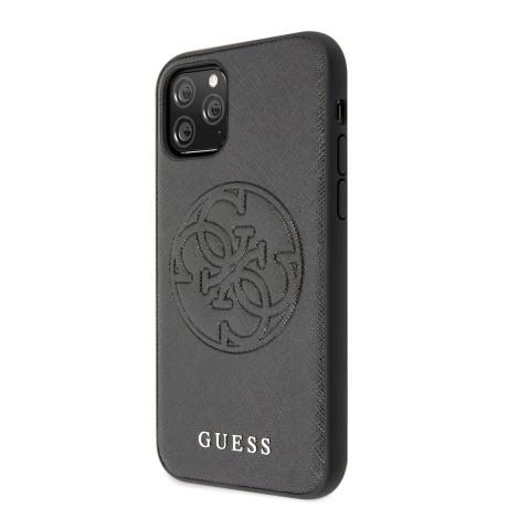 Husa Guess Saffiano pentru iPhone 11 Pro Max, Negru