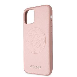 Husa Guess Saffiano pentru iPhone 11, Roz