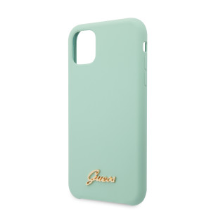 Husa Guess Silicone Vintage pentru iPhone 11 Pro Max, Verde