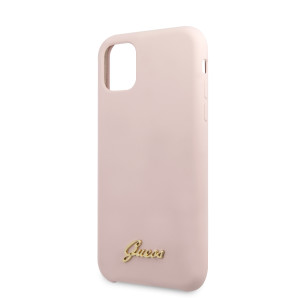 Husa Guess Silicone Vintage pentru iPhone 11, Roz