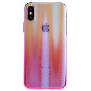 Husa  Hard Aurora iPhone X/XS, Roz Baseus