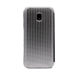 Husa hard book Samsung Galaxy J3 2017 Argintiu