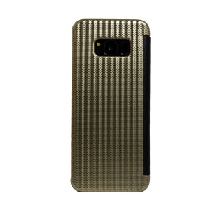Husa hard book Samsung Galaxy S8 Auriu
