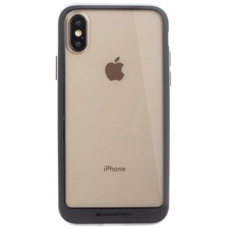 Husa Hard Bumper iPhone XS Max, Goospery Argintiu