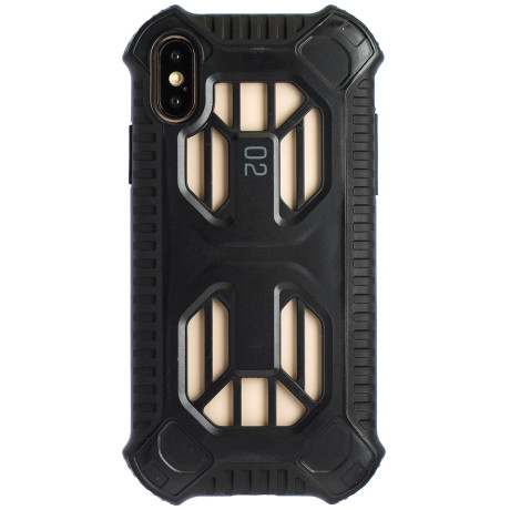 Husa Hard Cold Front Cooling iPhone X/XS, Negru Baseus