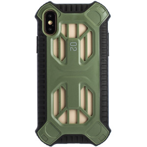 Husa Hard Cold Front Cooling iPhone X/XS, Verde Baseus