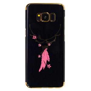 Husa hard fashion Samsung Galaxy S8, Black feather
