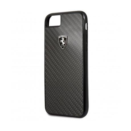 Husa Hard Ferrari pentru iPhone 7/8 Negru Carbon FEHCAHCI8BK
