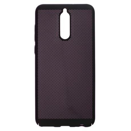 Husa hard Huawei Mate 10 Lite Neagra - Model perforat