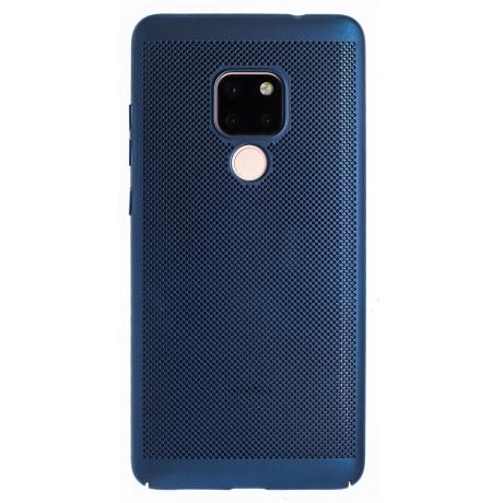 Husa hard Huawei Mate 20 Albastru- Model perforat