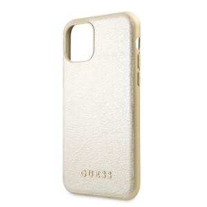 Husa Hard iPhone 11 Gold Leather Guess