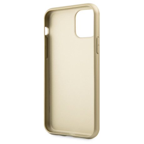 Husa Hard iPhone 11 Pro Max Gold Leather Guess