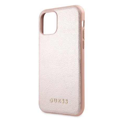 Husa Hard iPhone 11 Pro Rose Gold Leather Guess