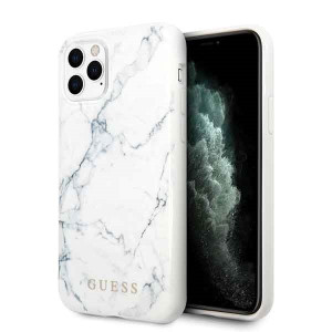 Husa Hard iPhone 11 Pro White Marble Guess
