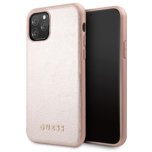 Husa Hard iPhone 11 Rose Gold Leather Guess