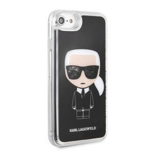 Husa Hard iPhone 6/6s/7/8 Karl Lagerfeld, Liquid Neagra