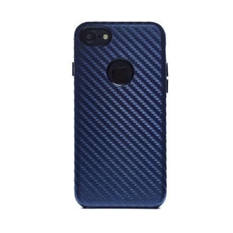 Husa hard Iphone 7 Albastru Piele Ecologica