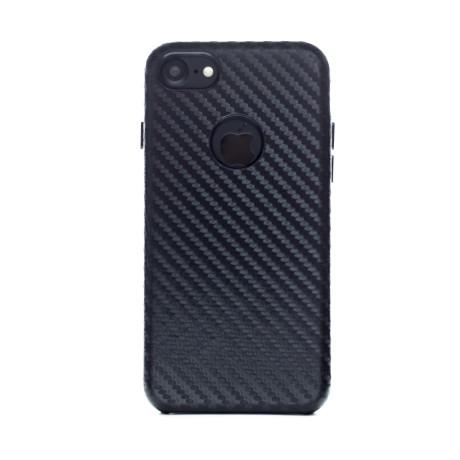 Husa hard iPhone 7, Piele Ecologica, Negru