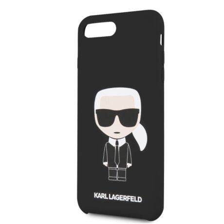 Husa Hard iPhone 7 Plus/ 8 Plus Karl Lagerfeld Silicone Negru