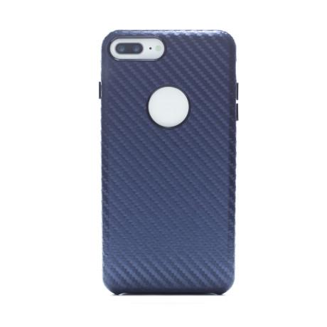 Husa hard Iphone 7 Plus Albastru Piele Ecologica