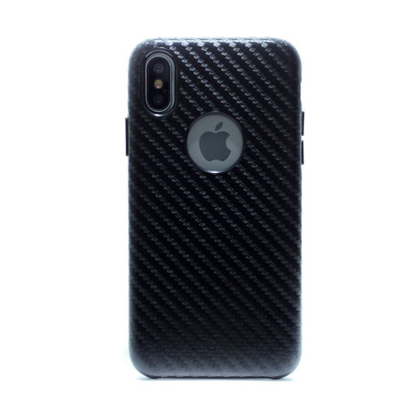 Husa hard Iphone X Negru Piele Ecologica
