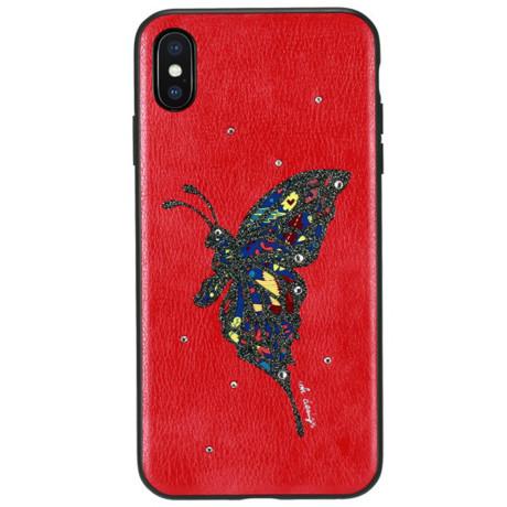 Husa Hard iPhone X Fancy Diamond WK Rosu