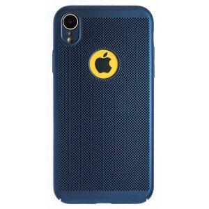 Husa Hard iPhone XR Albastru- Model perforat