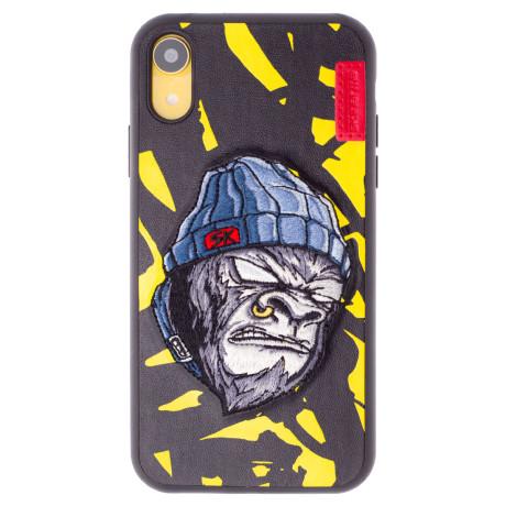 Husa Hard iPhone XR Gorilla Saru, Skinarma Galbena