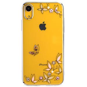 Husa Hard iPhone XR Kingxbar Blossom Series Buterfly ,Silver Frame