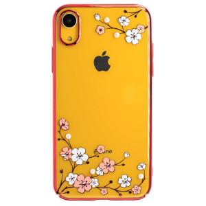 Husa Hard iPhone XR Kingxbar Blossom Series Plum, Red Frame