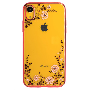 Husa Hard iPhone XR Kingxbar Flora Series, Red Frame