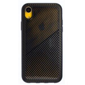 Husa Hard iPhone XR, Negru Geometric