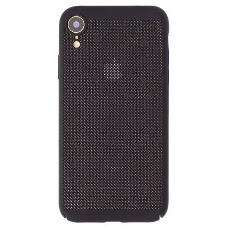 Husa hard iPhone XR Negru - Model perforat