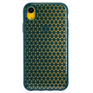 Husa Hard iPhone XR, Verde Geometric