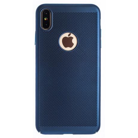 Husa hard iPhone XS Max Albastru- Model perforat