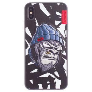 Husa Hard iPhone XS Max Gorilla Saru, Skinarma Alba