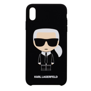Husa Hard iPhone XS Max Karl Lagerfeld Silicone Negru