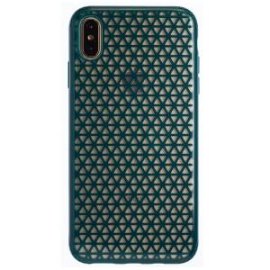 Husa Hard iPhone XS Max, Verde Geometric