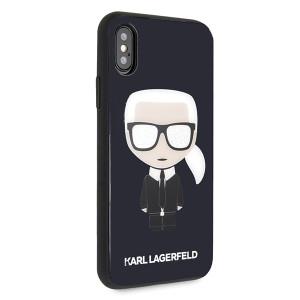 Husa Hard iPhone X/XS  Karl Lagerfeld Negru