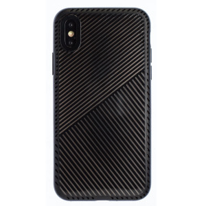 Husa Hard iPhone X/XS, Negru Geometric