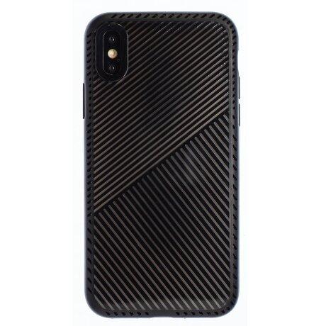 Husa Hard iPhone X/XS, Negru Geometric