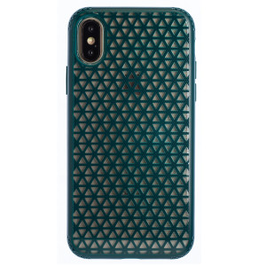 Husa Hard iPhone X/XS, Verde Geometric