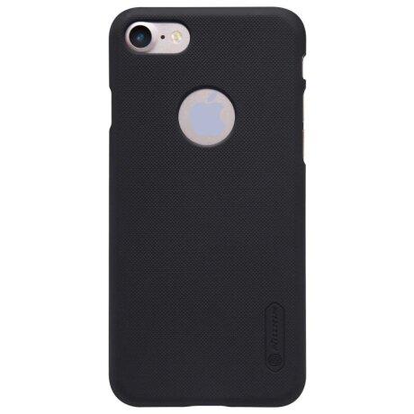 Husa Hard Nillkin + Folie inclusa Iphone 7/8 Plus Negru