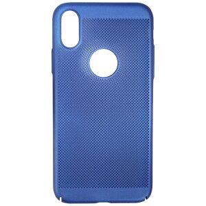 Husa Hard pentru iPhone X/XS Albastru - Model Perforat