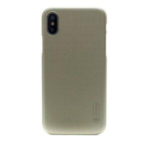 Husa Hard pentru iPhone X/XS Auriu+Folie Nillkin