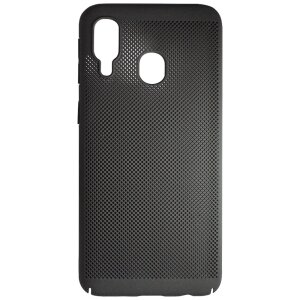 Husa Hard pentru Samsung Galaxy A40 Negru - Model Perforat
