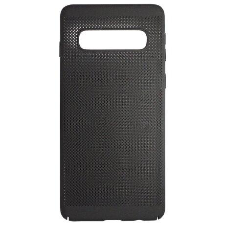 Husa Hard pentru Samsung Galaxy S10 Negru - Model Perforat